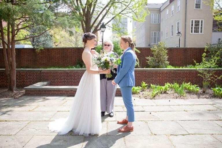 Philadelphia elopement ceremony